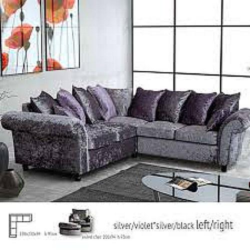 Crushed Velvet Sofa Affordable Furnishings